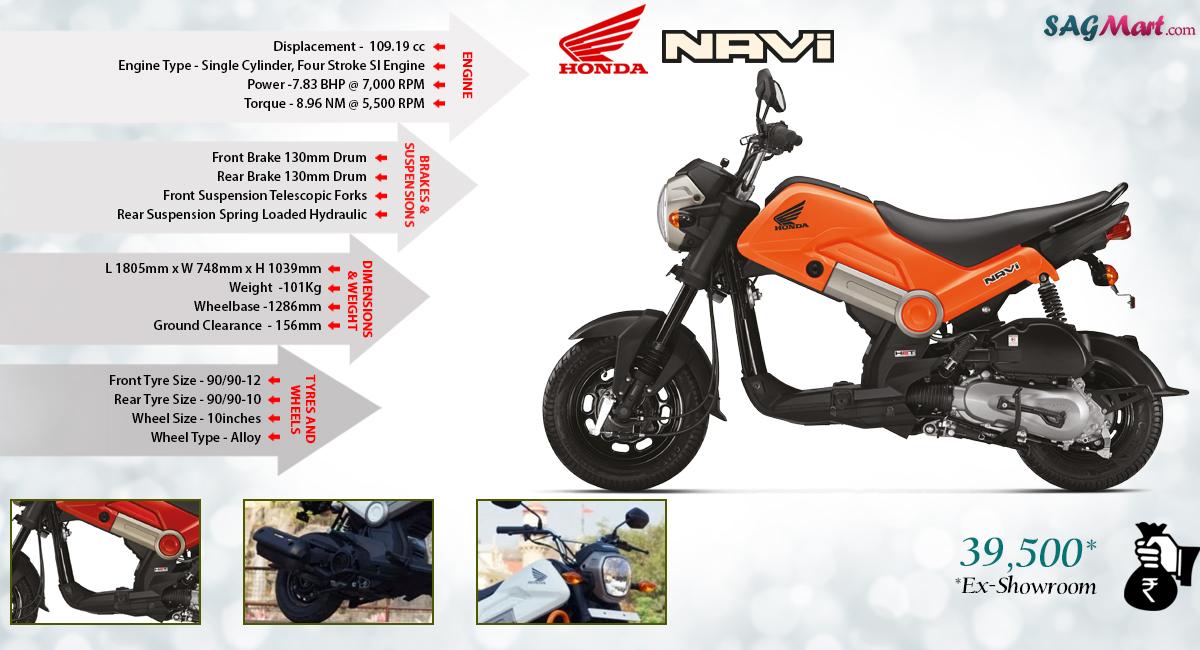 Honda Navi Price India Specifications Reviews Sagmart