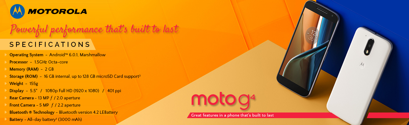 Moto G4 available on Amazon for INR 12,499