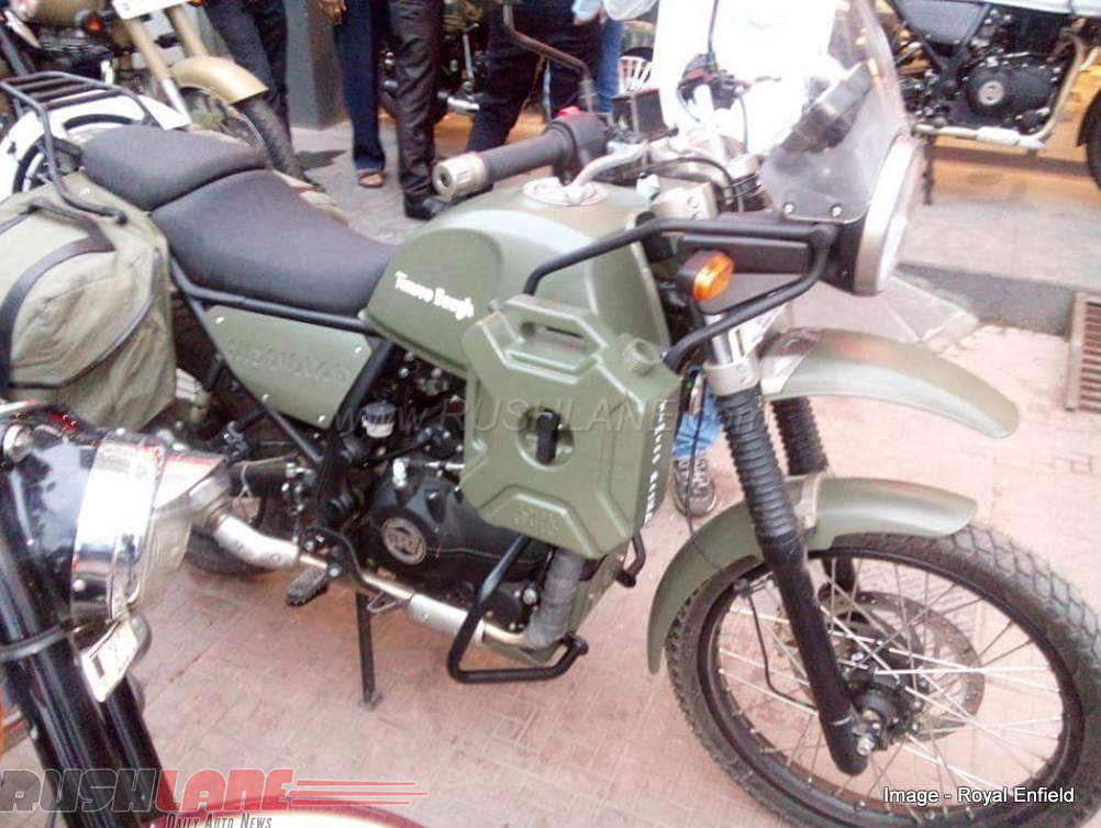 Royal Enfield Himalayan Seen in Army Green Livery at ...