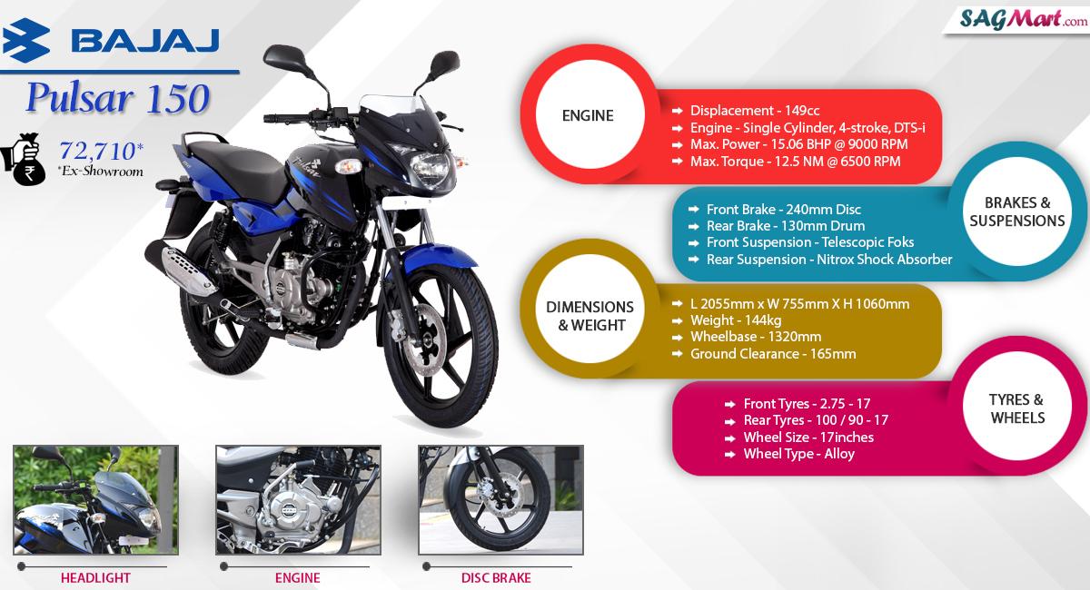 Bajaj Pulsar 150 Dtsi Price India Specifications Reviews Sagmart