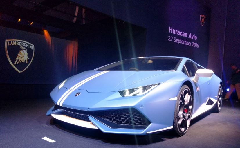 here arrives india bound lamborghini huracan avio priced at inr crore. Black Bedroom Furniture Sets. Home Design Ideas