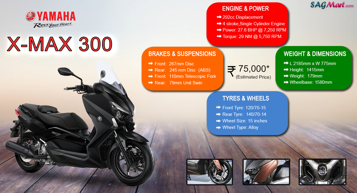 yamaha x max 300 price india specifications reviews sagmart. Black Bedroom Furniture Sets. Home Design Ideas