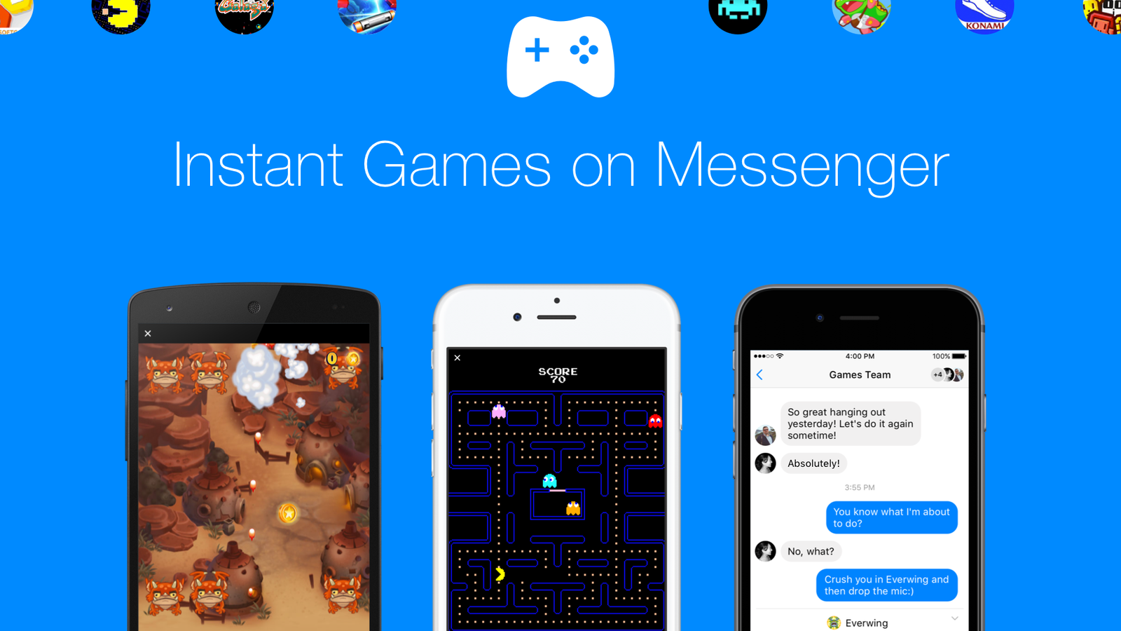 Facebook launches instant games feature for messenger and news feed