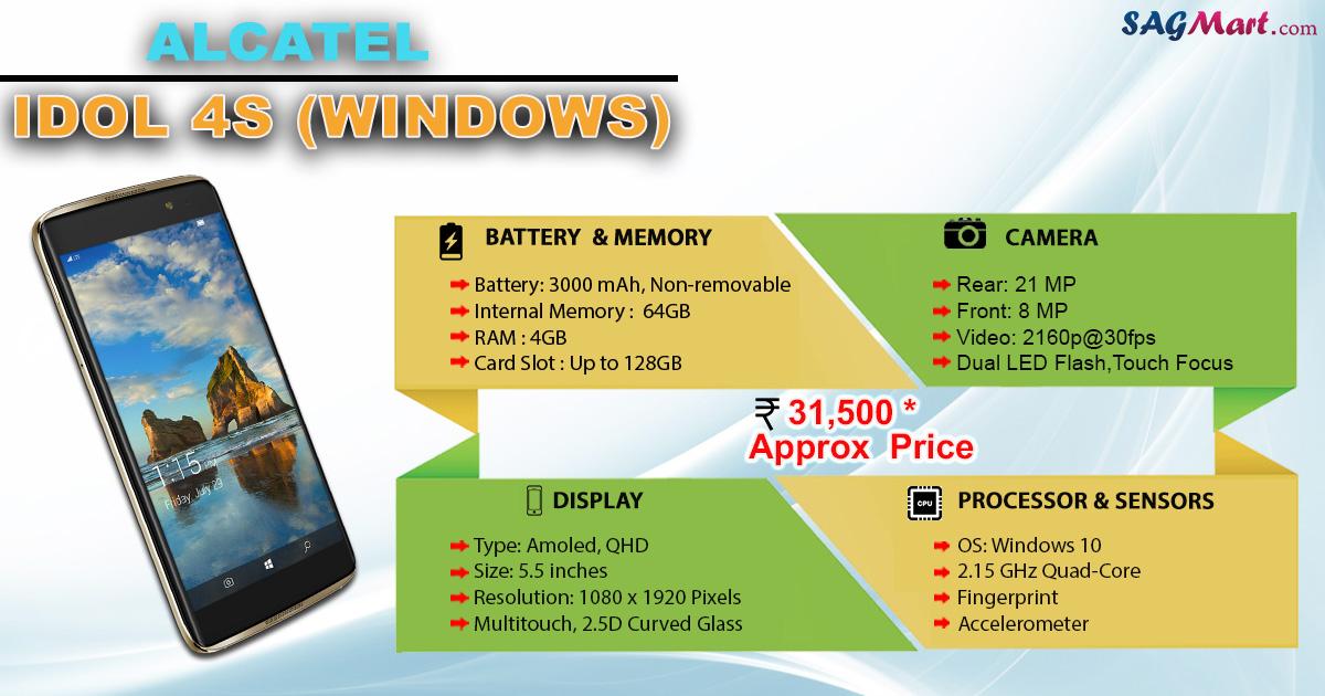 Alcatel Idol 4s Windows Price India Specs And Reviews
