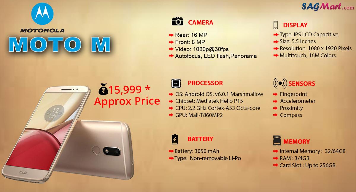 Motorola Moto M Price India, Specs and Reviews
