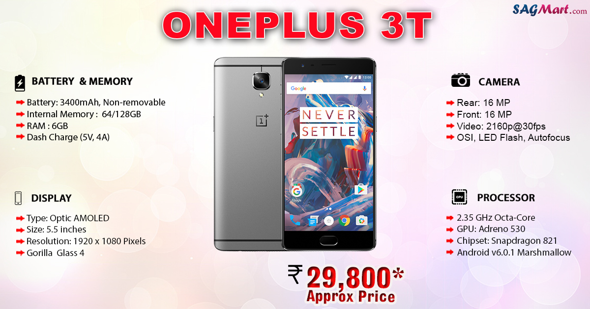 OnePlus 3T Price India Specs And Reviews