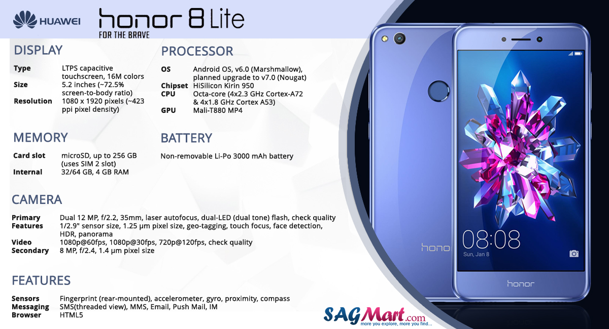 Huawei Honor 8 Lite Price India Specs And Reviews Sagmart