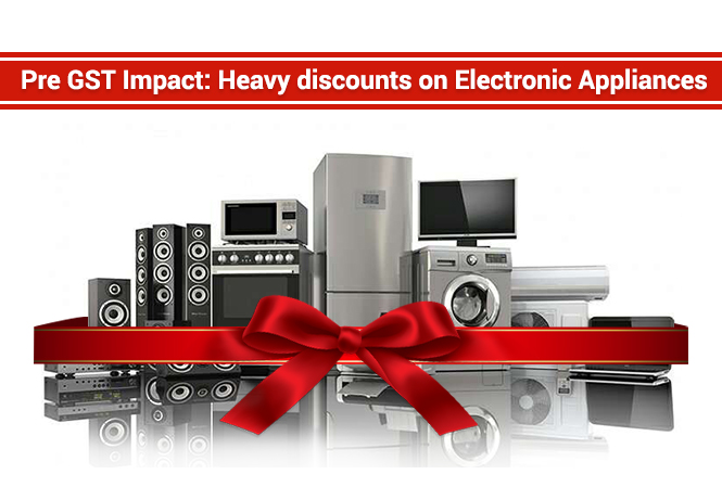 Impact of GST: Huge discounts on electronic items