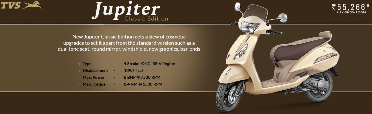 Have a Look on New TVS Jupiter Classic Edition