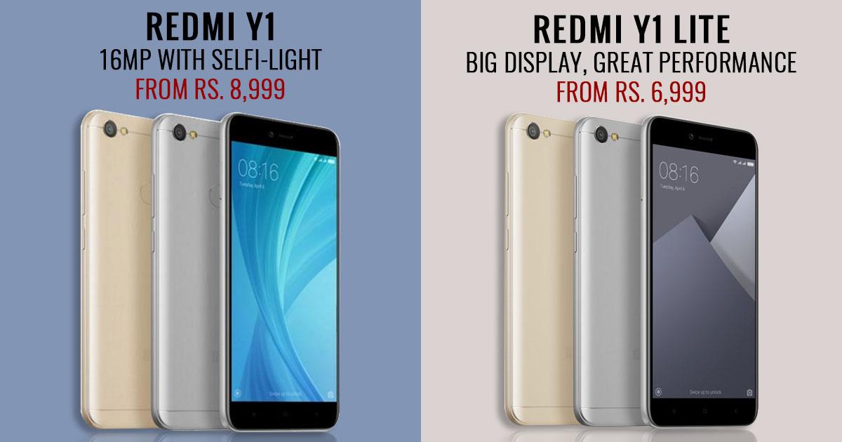 Xiaomi Redmi Y1 Redmi Y1 Lite Available In India For The