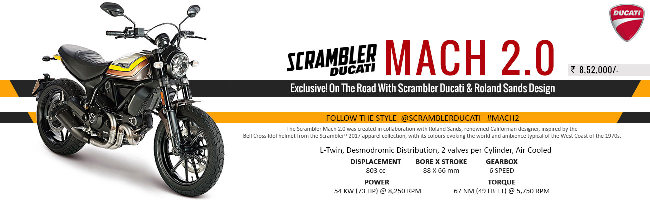 Ducati Scrambler Mach 2.0 Launched in India at Rs 8.52 lakh