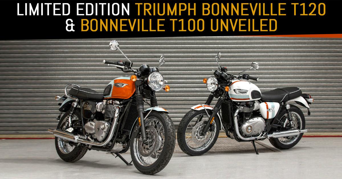 Limited Edition Triumph Bonneville T120 And Bonneville T100 Unveiled