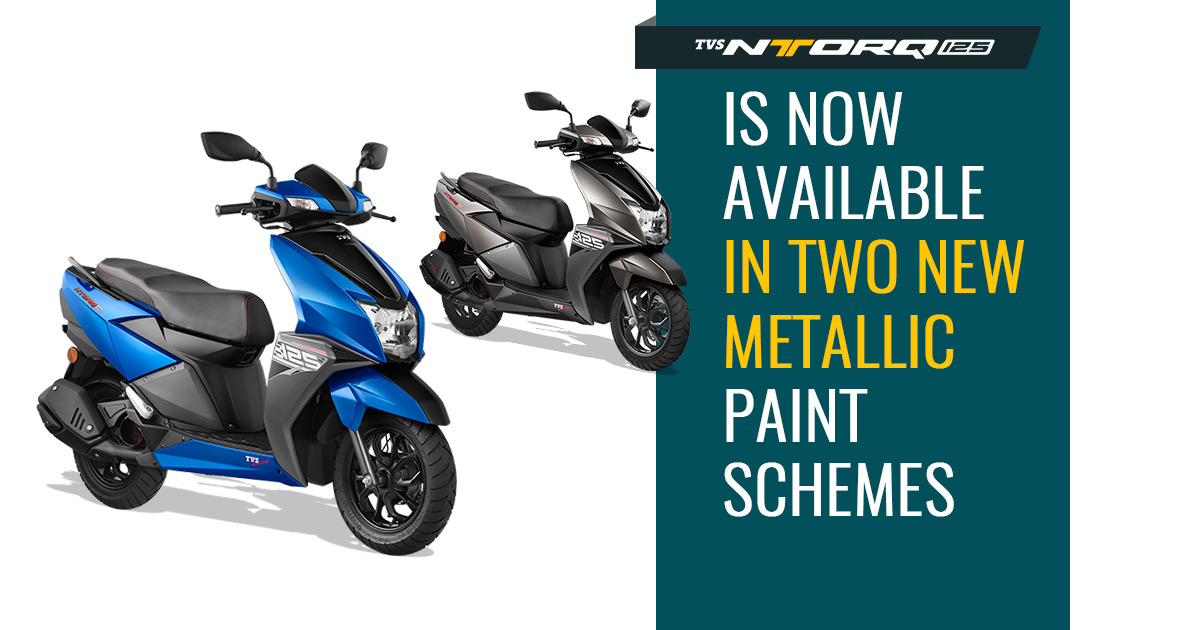 New Tvs Ntorq 125 Gets Two New Colours