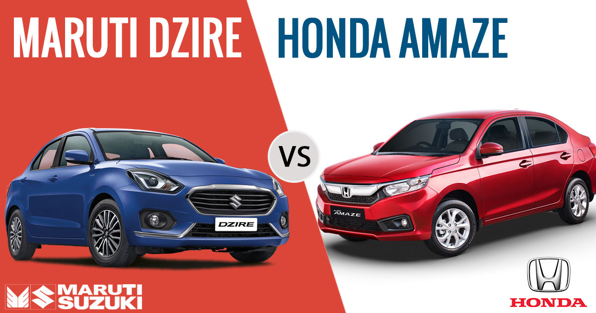 New Honda Amaze 2018 And Maruti Dzire: Which is better? | sagmart.com