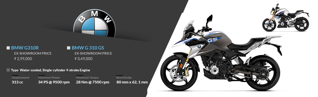 BMW G310GS and G310 R Launched in India