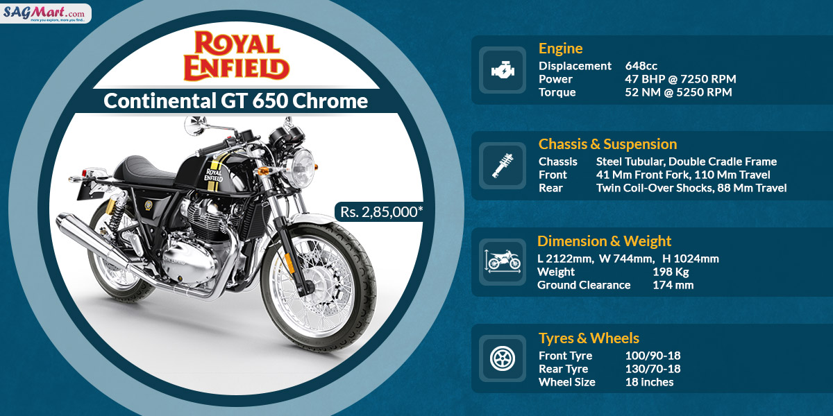 Royal Enfield Continental Gt 650 Chrome Price India Specifications