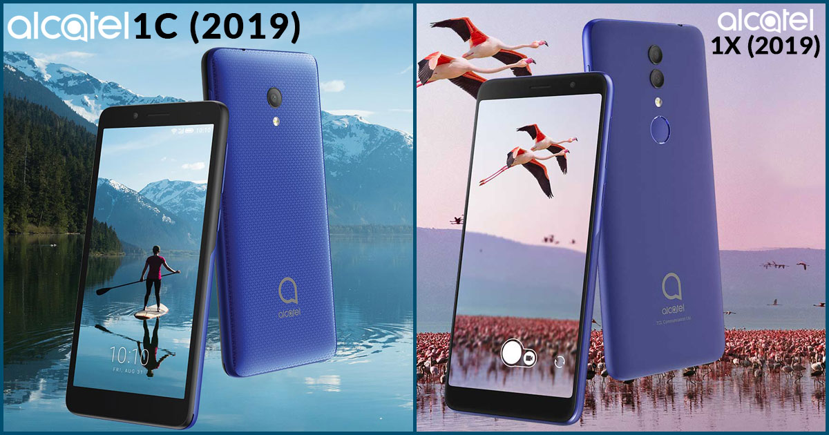 Alcatel 1x (2019) and Alcatel 1c (2019) Showcased at CES in