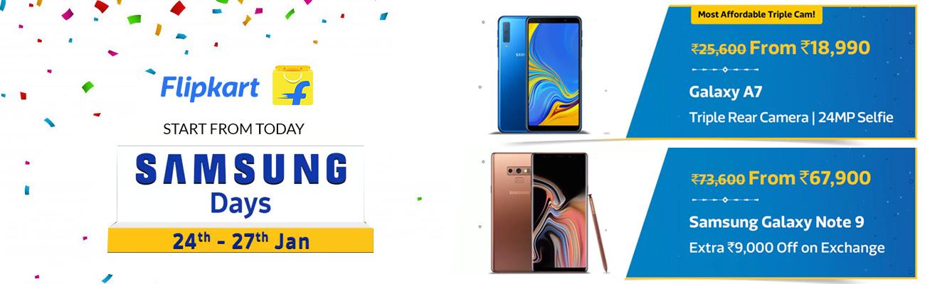 Flipkart Samsung Days Sale