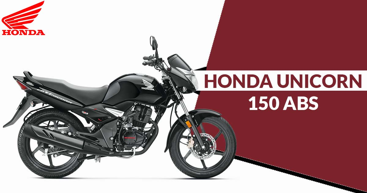 Honda India Launches Unicorn 150 With Abs At Inr 78815