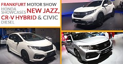 Frankfurt Motor Show 2017: Honda Unveiled CR-V Hybrid, Updated Jazz, And Civic With Diesel Engine
