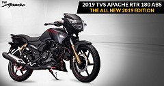 2019 TVS Apache RTR 180 Launched at INR 84,578