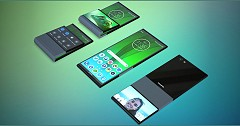 Lenovo Patent Images Unveils Foldable Phone With Clamshell Design