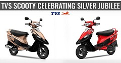 TVS Celebrating the Scooty Brand Silver Jubilee with 2 New Colour Options