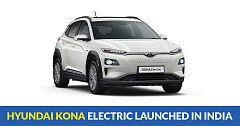 Hyundai Kona Electric launched in India at INR 25.30 lakh