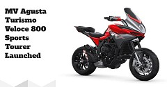 MV Agusta Turismo Veloce 800 Sports Tourer Launched at INR 18.99 Lakh