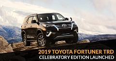 Toyota Fortuner TRD Celebratory Edition 2019 launched; Pricelocked at Rs. 33.85