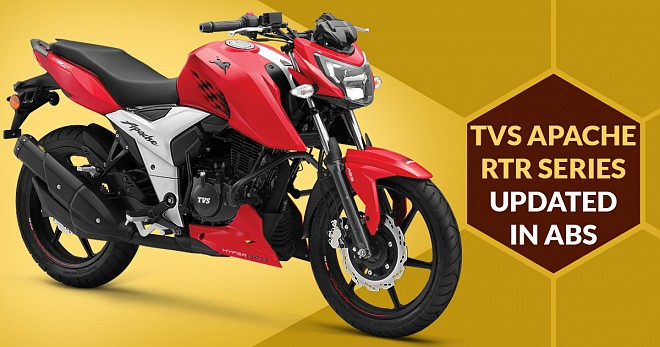 TVS Apache RTR Updated with ABS