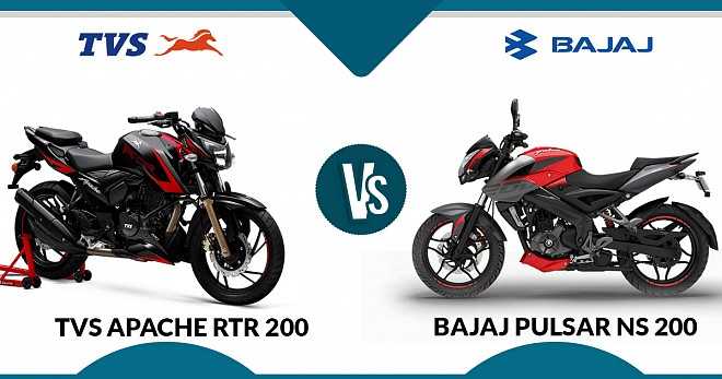 TVS Apache RTR 200 and Bajaj Pulsar NS 200