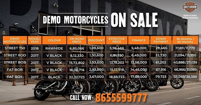 Harley Davidson Street Road Discount Offers