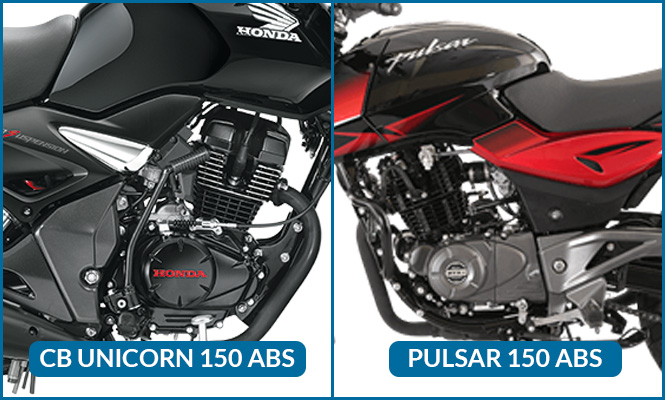Honda CB Unicorn 150 ABS vs Bajaj Pulsar 150 Engine