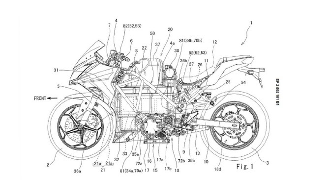 Ninja 300 Styled Electric Bike Gets Patented