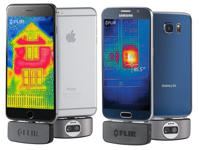 thermal camera iphone smartphones can now take thermal images with new flir one 6621